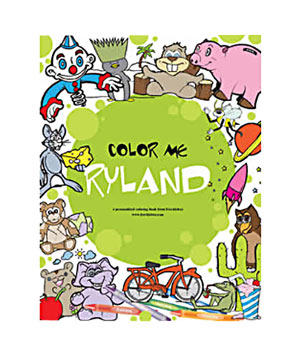 Customized coloring book