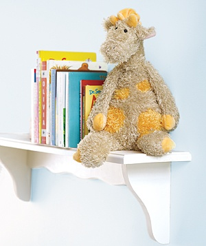Stuffed animal as a bookend