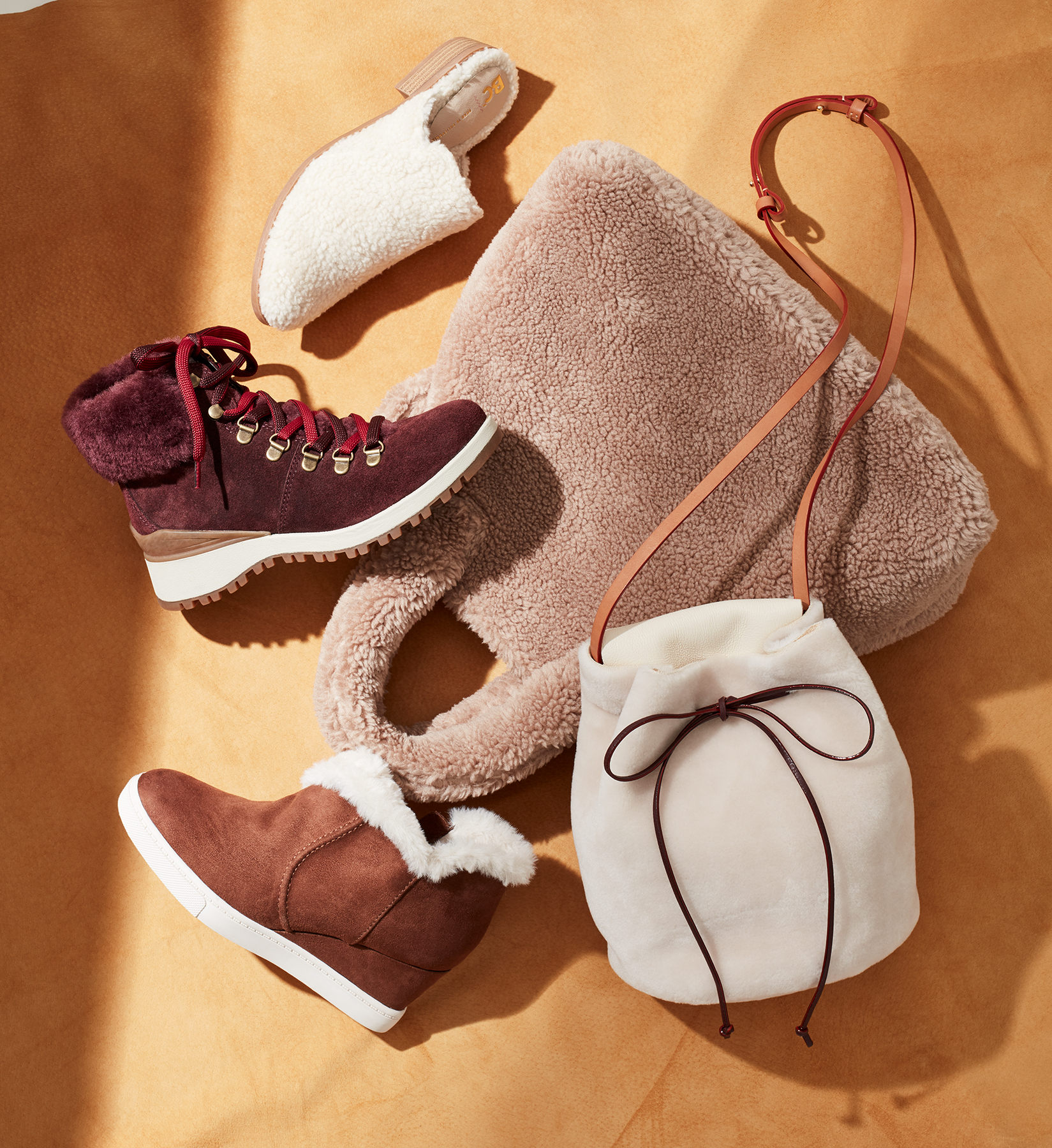 fall trend shearling accessories