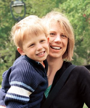 Laura Stratte and her son, Ned