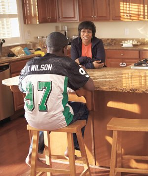 Kelly Wilson and her son