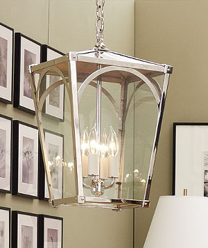 Sclaroff polished-nickel pendant light