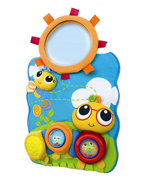 Safe Fit Jeepers Peepers Kick 'N Go Seat Toy with Mirror