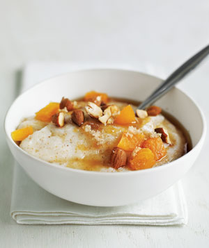 Farina With Apricots and Almonds