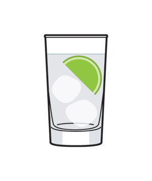 Illustration of a gin drink
