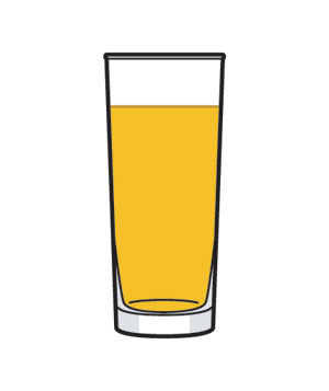 Illustration of a glass of juice