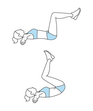 Illustration of the Reverse Crunch exercise