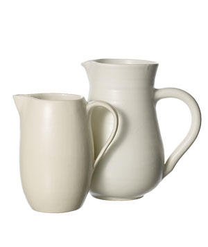 Earthenware and stoneware pitchers by Canvas