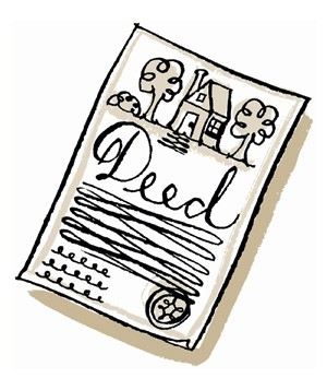 Illustration of a property deed