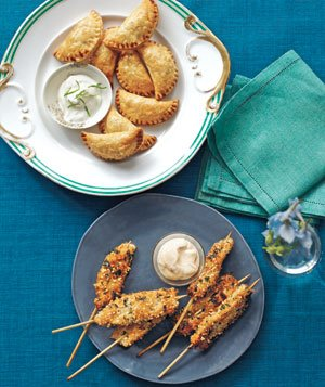 Spiced Beef Empanadas and Peanut Chicken Skewers