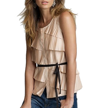 Pleated Paulette Top by J. Crew