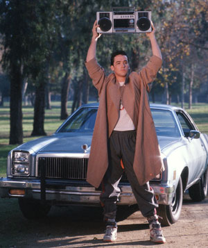 """Say Anything"" film still with John Cusack"