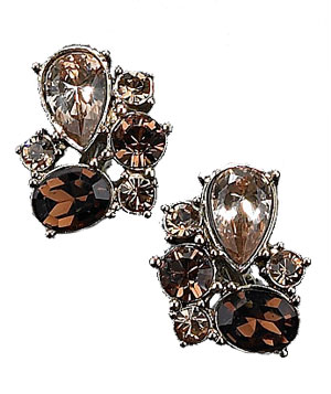 Monet's Goldtone Crystal Accent Clips