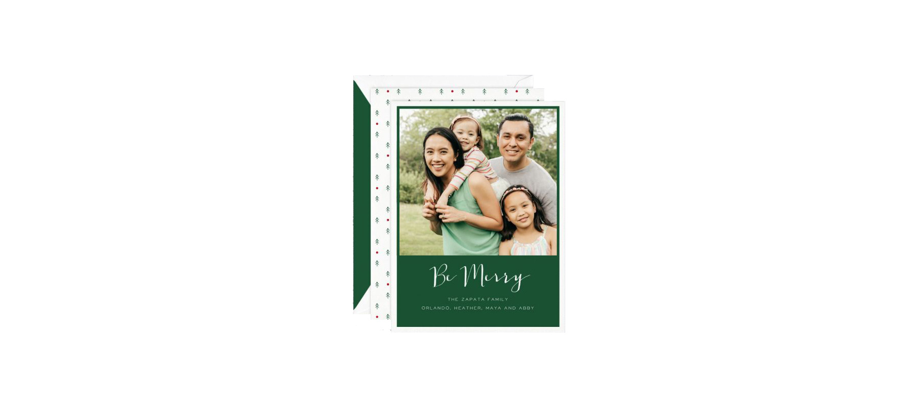 Be Merry Holiday Digital Photo Card