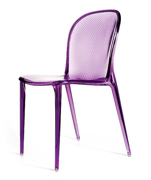 Purple Kartell Thayla plastic chair