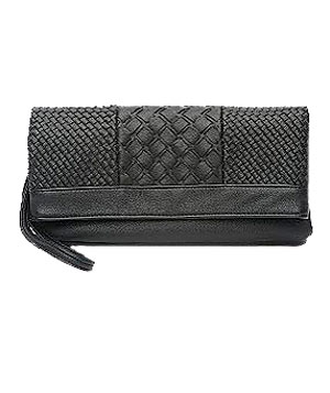 Woven Flap Clutch by Ecote