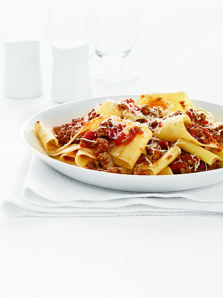 Pappardelle With Spicy Meat Sauce