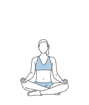 Illustration of sitting meditation