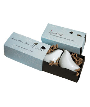 Love Bird Salt & Pepper Shakers by Navy & Lavender
