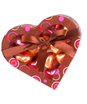 Choxie Milk and Dark Chocolate Truffle Hearts