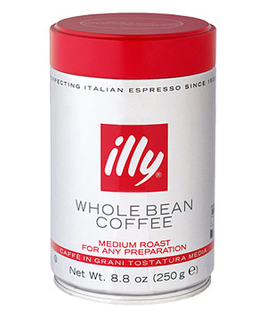 illy Whole Bean Coffee Medium Roast coffee beans