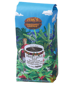 Jim's Organic Sweet Love Blend coffee beans