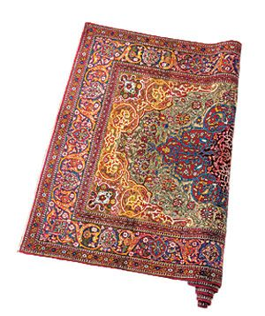 Antique Persian Isfahan wool rug