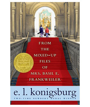 """""""From the Mixed-up Files of Mrs. Basil E. Frankweiler"""" by E.L. Konigsburg"""