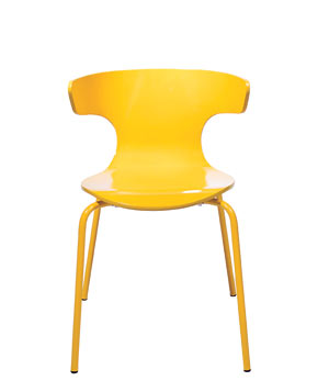 Wrap dining chair in Turmeric by West Elm