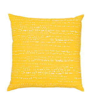 Blizzard pillow in mustard by Fluf