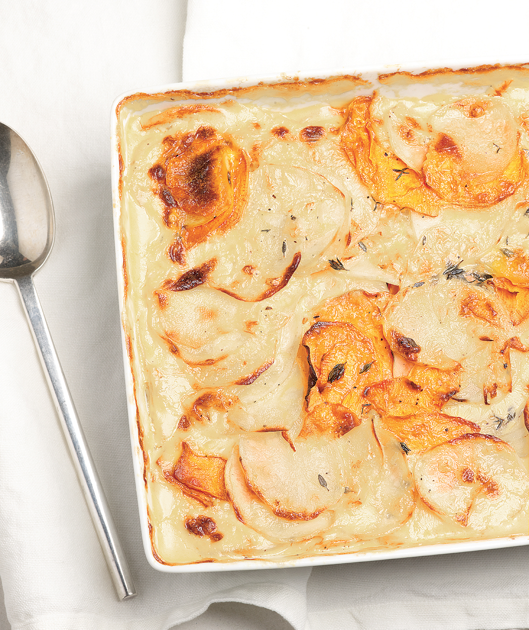 Scalloped Sweet Potatoes With Thyme