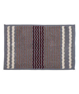 Textured Stripe Bath Mat