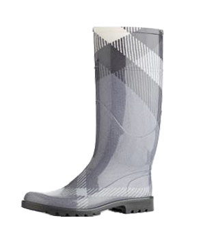 Check Rainboots by Burberry