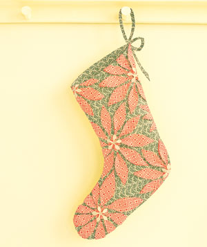 Paper construction of a Christmas stocking by Matthew Sporzynski