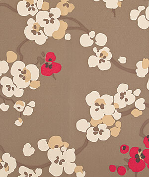 Seraphine Pumice floral wallpaper by Thomas Lavin
