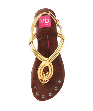 Dylan Gold Sandals by Dolce Vita