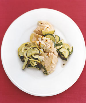 Feta Chicken With Zucchini