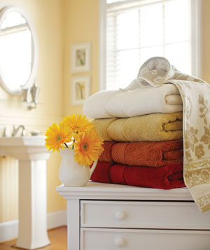 Bath towels from Better Homes and Gardens at Walmart