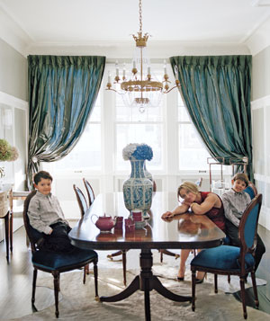 Julie Cusimano's finished dining room