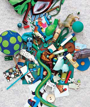 Clutter in a kid's room