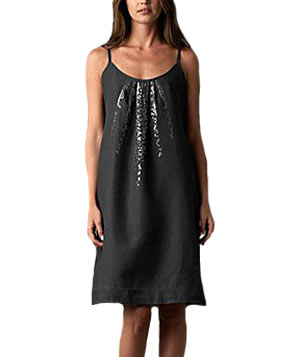 Shaped Cami Dress With Pleats by Eileen Fisher