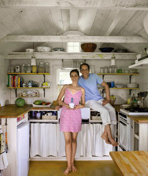 Ren and Natale Marasco in their 351 square foot home
