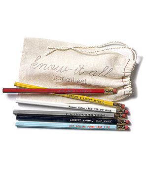 Know-It-All Pencils