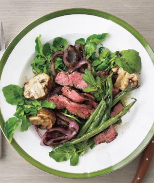 Grilled Steak, Mushroom, and Green Bean Salad