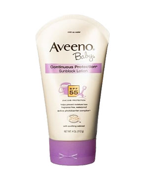Aveeno Baby Continuous Sunblock Lotion SPF 55