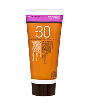 Korres SPF 30 High Protection Sunscreen Emulsion for Children