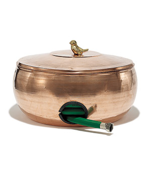 Copper Hose Storage Pot