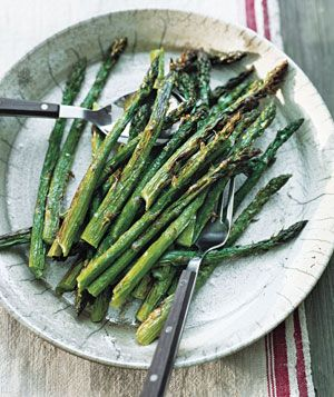 In this 10-minute recipe, which calls for just kosher salt, pepper, and olive oil, the sugar of the asparagus is caramelized, drawing out its sweetness. Use a grill instead of a broiler, if you prefer.