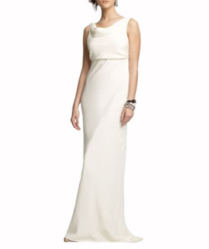 Silk Tricotine Anouk Gown by J. Crew