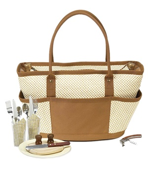 Bahamas Picnic Basket Cooler Tote for Two